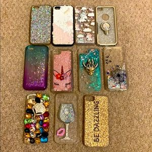 iPhone 5se glittery cases galore!